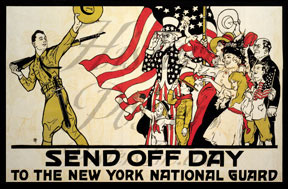 218-send-off-day-WWI-new-york-national-guard-poster